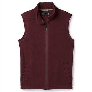 Men's Smartwool Trail Fleece Vest Maroon Large